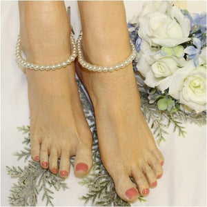 wedding anklets pearl women