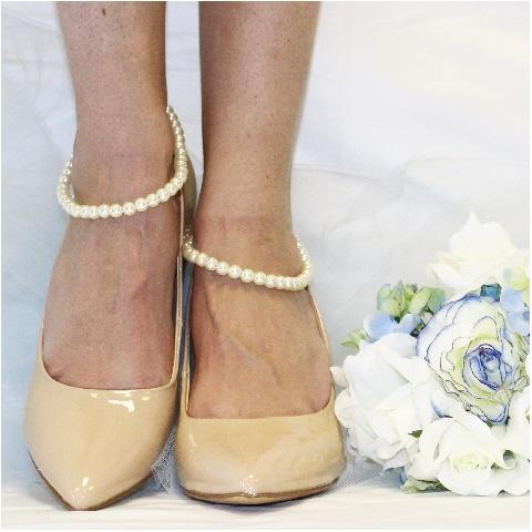 PEARL wedding ankle bracelet - wedding foot jewelry custom etsy womens