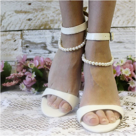 pearl wedding anklet - pearl wedding ankle bracelet