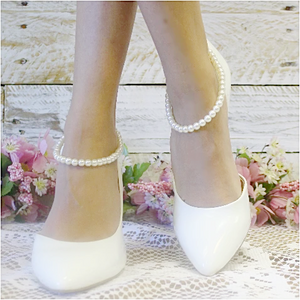 PEARL wedding ankle bracelet - shoe jewelry wedding womens etsy