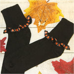 Halloween socks fun women's pumpkin etsy usa cute