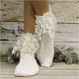 cute ivory socks for booties