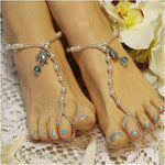 TURTLE  beaded barefoot sandals - Catherine Cole Studio