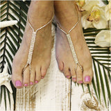 GLAMOROUS barefoot sandals - gold - Catherine Cole Studio  - 4