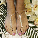 wedding barefoot sandals - gold - footless sandals - weddiing sandals