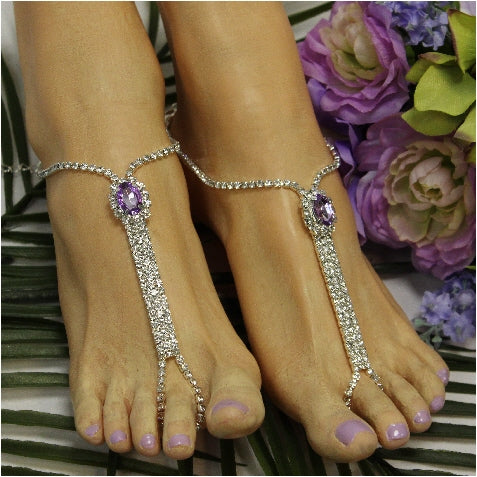 BRIDESMAID  barefoot sandals - lavender / liac - Catherine Cole Studio