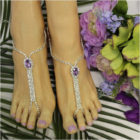 BRIDESMAID  barefoot sandals - lavender