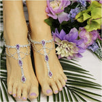 SOMETHING LILAC  barefoot sandals - lavender - Catherine Cole Studio etsy