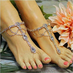 rose gold bridal foot jewelry rhinestones