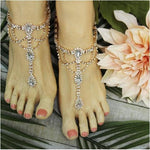 rose gold rhinestone soleless sandals