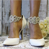 TATIANA  rhinestone ankle bracelet - wedding - rhinestones - shoes