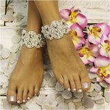 ankle bracelet - wedding ankle bracelet - rhinestones - wedding shoes