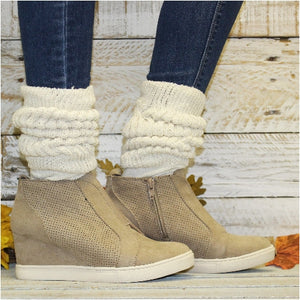 cute slouch socks women wedge sneakers - Hooters style sock
