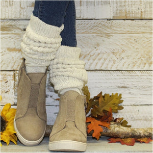 Hooters slouch socks women cotton beige ivory natural color