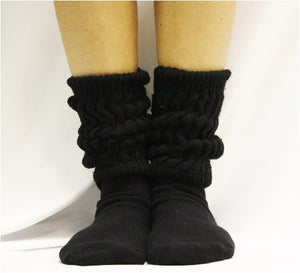 Hooters cotton slouch scrunch socks best etsy CUDDLY cotton slouch socks women  - black