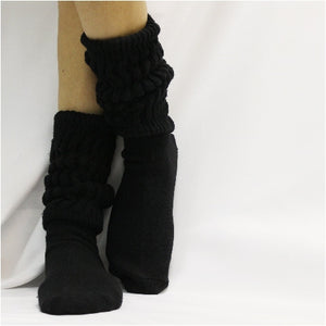 CUDDLY cotton slouch socks women  - black HOOTERS socks slouchy cotton best colors