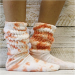 hooter's socks tie dyed women cute colors BEST USA made cotton