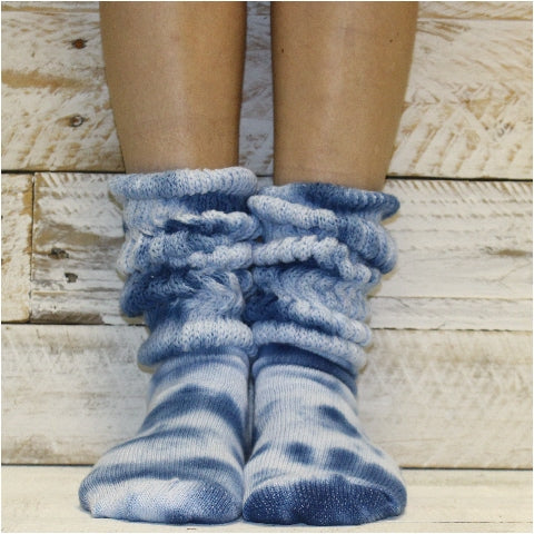tie dye fashion socks women