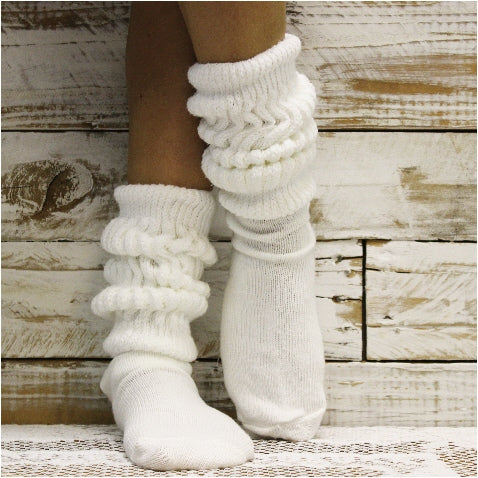 Hooters  cotton slouch socks women - white - slouchy