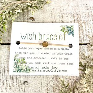 Wish Bracelets handmade set of 4  assorted gifts