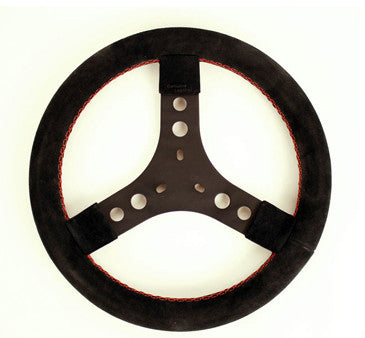 BOMBER SUEDE ROUND STEERING WHEEL 3 HOLE