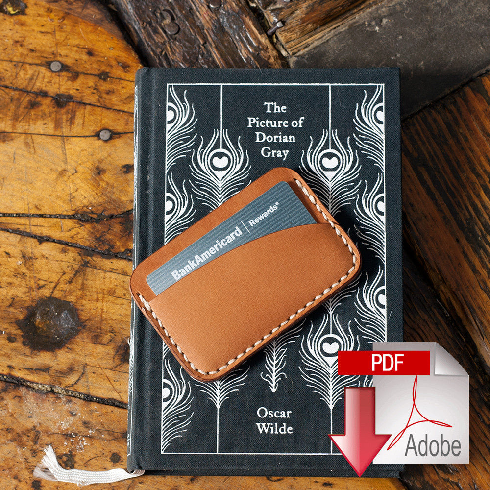 Leather Card Holder (3-Pocket) Digital Template (8.5 x 11)