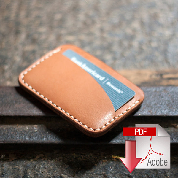 Leather Card Holder 3 Pocket Digital Template 85 x 11
