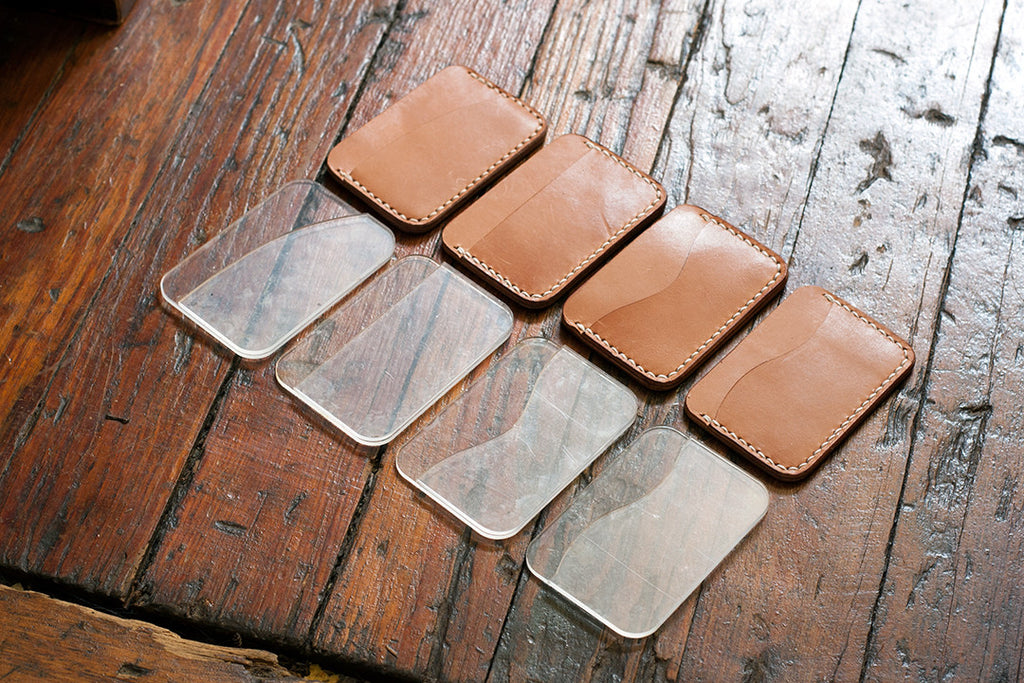 Leather Card Holder (3-Pocket) Acrylic Template Set
