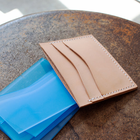 Leather 5 Pocket Card Wallet with Square Corners (Laser Ready Files)