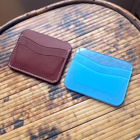 Leather 5-Pocket Card Wallet (Laser Ready Files)