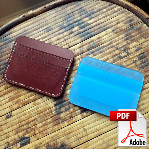 5 Pocket Card Wallet Digital PDF Template Set (A4)