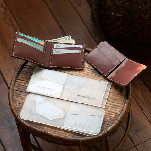Leather Bi-Fold Wallet Acrylic Template Set (Slanted Slots)