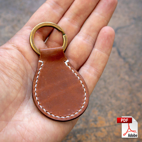 Classic Leather Key Fob PDF Template (A4)