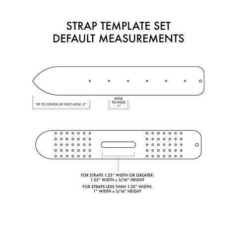 Custom Strap/Belt Acrylic Template Set