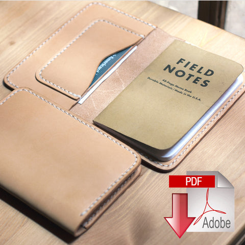 Leather Field Notes Case Digital Template (A4)