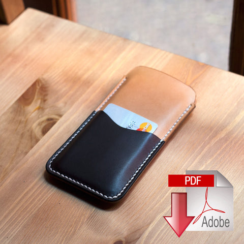 Leather iPhone 6 Sleeve Digital Template (A4)