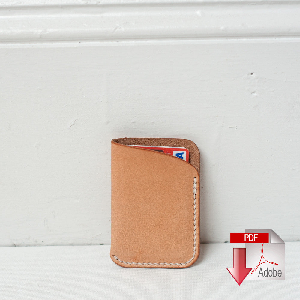 leather slim card wallet digital template a4 makesupply