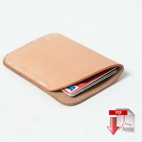 Leather Slim Card Wallet Digital Template (8.5 x 11)
