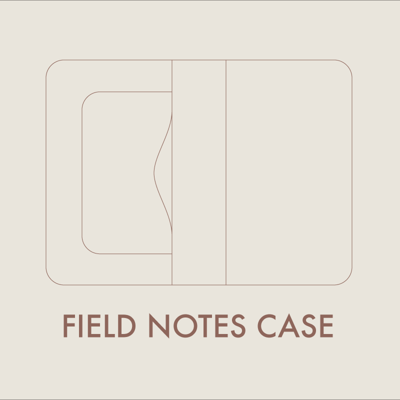 leather field notes case digital template a4