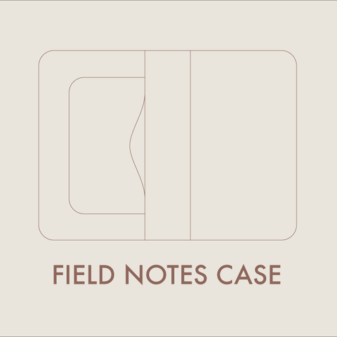 Leather Field Notes Case Digital Template (8.5 x 11)