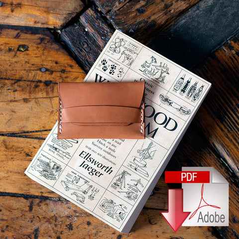 Leather Flap Wallet Digital Template (A4)