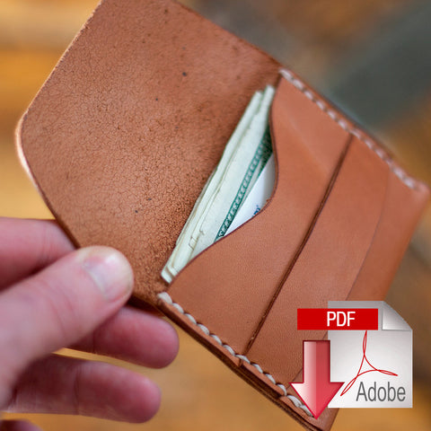 Leather Flap Wallet Digital Template (8.5 x 11)