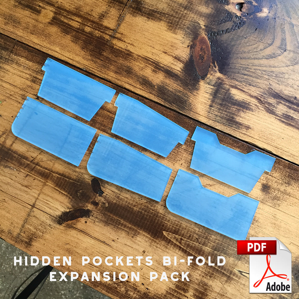 Bi-Fold Wallet with Hidden Pockets Expansion Pack PDF Template Set (A4)