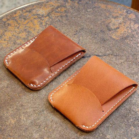 Leather Card Holder with Flap Closure (Laser Ready Files)