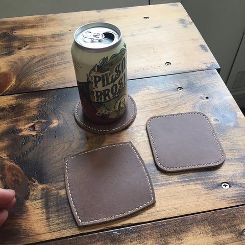 Leather Drink Coasters Acrylic Template Set