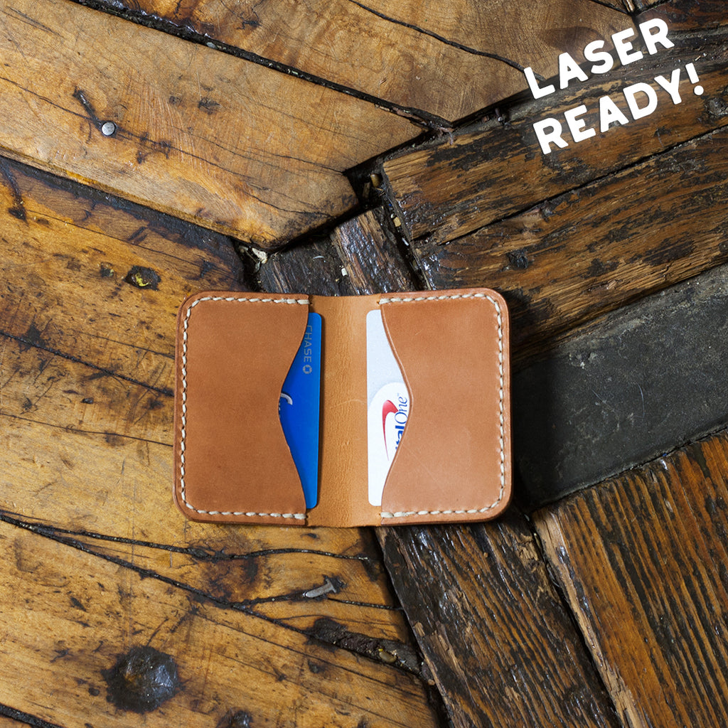 Leather Folded Card Holder (Laser Ready Files)