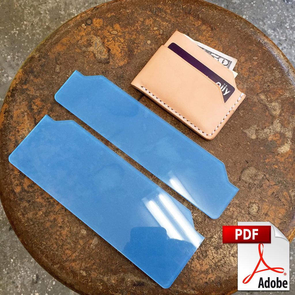 folded front pocket wallet pdf template set a4 makesupply
