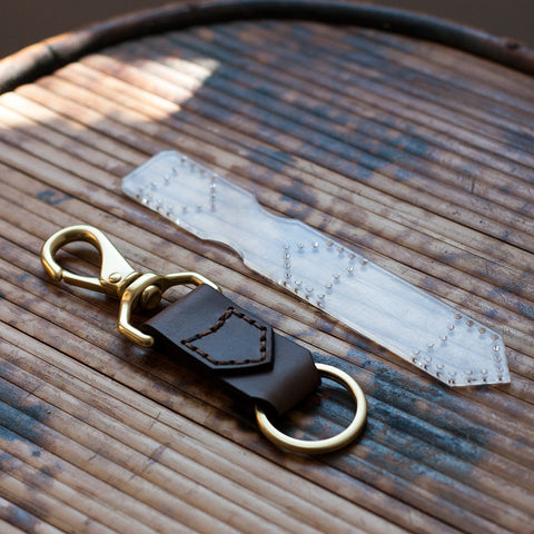 Leather Keychain Acrylic Template