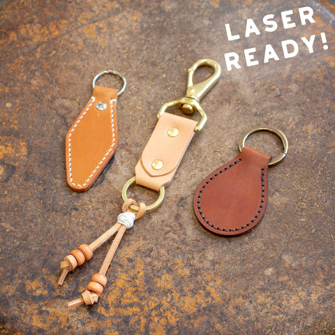 Leather Keychains Bundle (Laser Ready Files)
