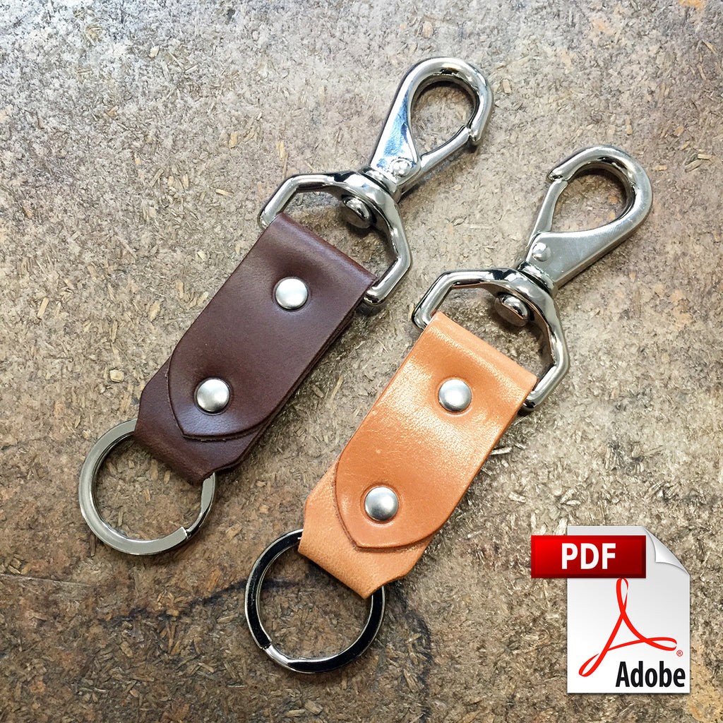 Riveted Leather Keychain Digital PDF Template (8.5 x 11)